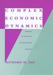 Cover of: Complex economic dynamics