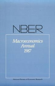 Cover of: NBER Macroeconomics Annual | Stanley Fischer