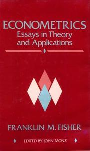 Cover of: Econometrics | Franklin M. Fisher