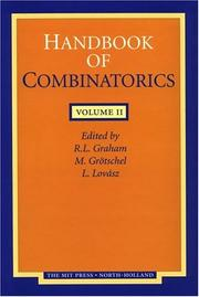 Cover of: Handbook of combinatorics