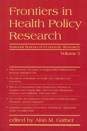 Cover of: Frontiers in Health Policy Research, Vol. 5 | Alan M. Garber