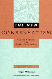 Cover of: The new conservatism | JГјrgen Habermas