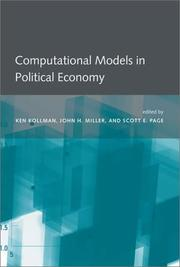 Cover of: Computational models in political economy