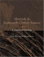Cover of: Materials in Eighteenth-Century Science: A Historical Ontology (Transformations: Studies in the History of Science and Technology) | Ursula Klein