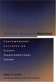 Cover of: Syntactic structures revisited