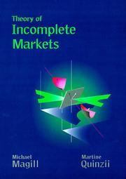 Cover of: Theory of incomplete markets