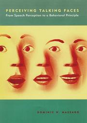Cover of: Perceiving talking faces | Dominic W. Massaro