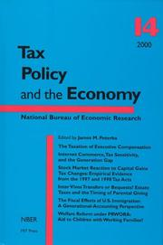 Cover of: Tax Policy and the Economy, Vol. 14 | James M. Poterba