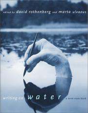 Cover of: Writing on water