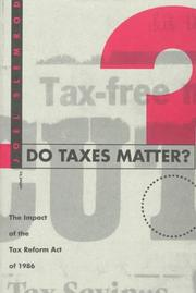 Cover of: Do Taxes Matter?