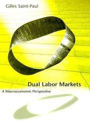 Cover of: Dual labor markets