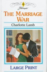 Cover of: The Marriage War | Charlotte Lamb