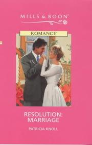 Cover of: Resolution, Marriage