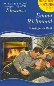 Cover of: Marriage for Real (Presents)