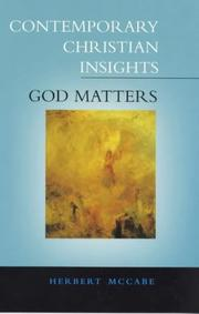 Cover of: God Matters (Contemporary Christian Insights) | Herbert McCabe