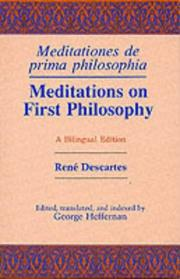 Cover of: Meditations on First Philosophy/Meditations De Prima Philosophia