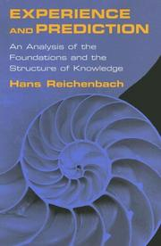 Experience and prediction by Hans Reichenbach