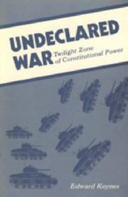 Cover of: Undeclared war