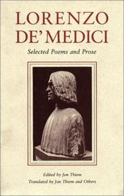 Cover of: Lorenzo de Medici