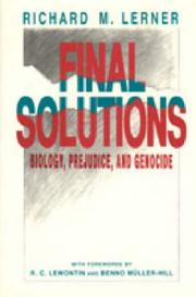 Final Solutions: Biology, Prejudice