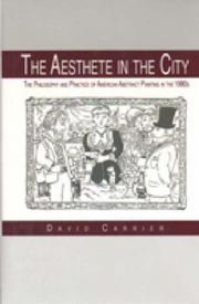 Cover of: The aesthete in the city