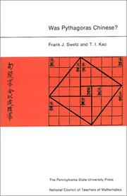Cover of: Was Pythagoras Chinese?