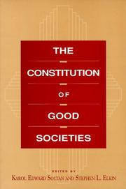 Cover of: The constitution of good societies