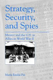 Cover of: Strategy, security, and spies | MariМЃa Emilia Paz Salinas