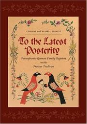Cover of: To the latest posterity