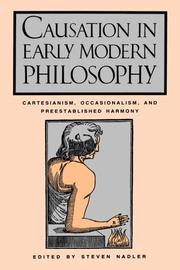 Cover of: Causation In Early Modern Phil. | Steven Nadler
