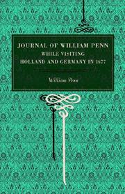 Cover of: Journal of William Penn