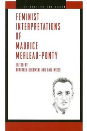 Feminist Interpretations of Maurice Merleau-ponty (Re-Reading the Canon) by