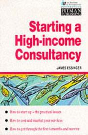 Cover of: Starting a high-income consultancy