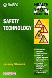 Cover of: Safety Technology (Health & Safety in Practice)