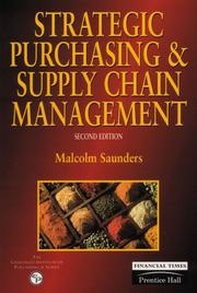 Cover of: Strategic Purchasing and Supply Chain Management