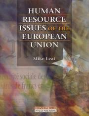Cover of: Human resource issues of the European Union