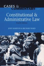 Cover of: Cases and commentary on constitutional and administrative law