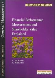 Cover of: Financial performance measurement and shareholder value explained