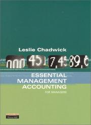 Cover of: Essential management accounting for managers