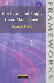 Cover of: Purchasing and Supply Chain Management (Frameworks)