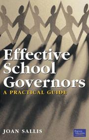 Cover of: Effective School Governors | Joan Sallis