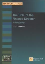 Cover of: Role of the Finance Director | Terry Carroll