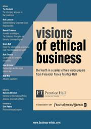 Cover of: Visions of Ethical Business | Malcolm McIntosh