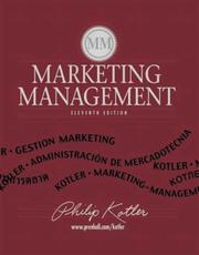 Cover of: Marketing Management with Pin Card