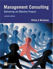 Cover of: Management Consulting | Philip A. Wickham