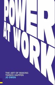 Cover of: Power at Work | Jo Owen