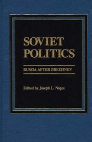 Cover of: Soviet Politics