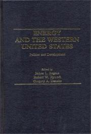Cover of: Energy and the Western United States |