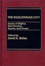 Cover of: The Egalitarian City