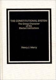 Cover of: The constitutional system